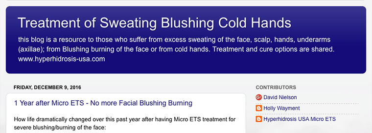 Micro ETS Treat Hyperhidrosis Blushing Raynaud